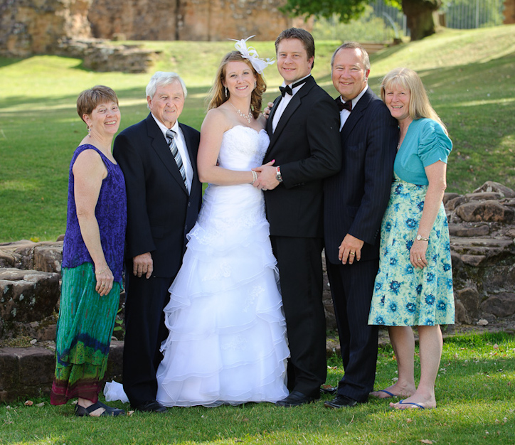 Wedding Party at Kenilworth Castle, Warwickshire
